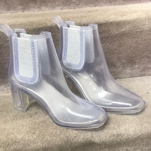 "CLEAR RAIN BOOTS ""hurricane waterproof boot"""